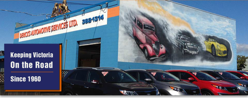 Keeping Victoria on the road since 1960 | Derick's Automotive Services Ltd. mural
